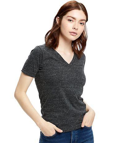 US Blanks US228 Ladies' 4.9 oz. Short-Sleeve Tribl Tri-charcoal