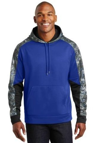 Sport Tek ST231 Sport-Tek Sport-Wick Mineral Freeze Fleece Colorblock Hooded Pullover Catalog