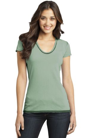 District DT2202 CLOSEOUT  - Juniors Faded Rounded  Forest Green