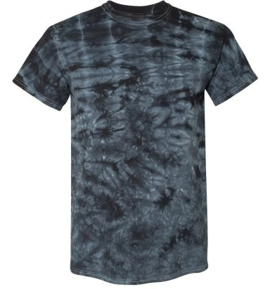 Dyenomite 200CR Crystal Tie Dyed T-Shirts Black Crystal