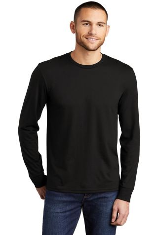 DM132 District Made Mens Perfect Tri Long Sleeve C Black