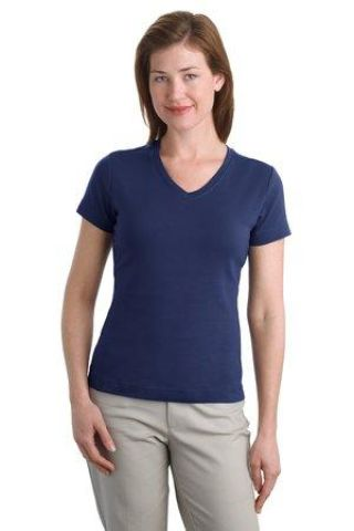 242 L516V NEW Port Authority® - Ladies Modern Stretch Cotton V-Neck Shirt Catalog
