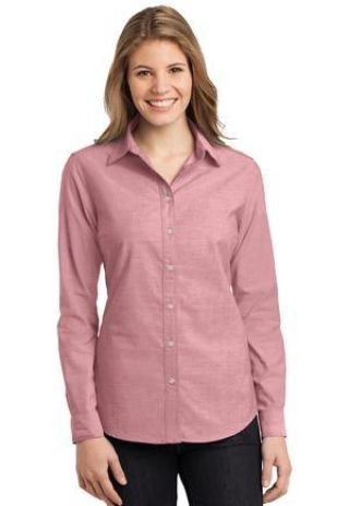 242 L653 CLOSEOUT Port Authority Ladies Chambray Shirt Catalog