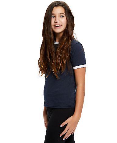 Youth Classic Ringer T-Shirt Navy/White