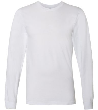 2007W Fine Jersey Long Sleeve T-Shirt WHITE