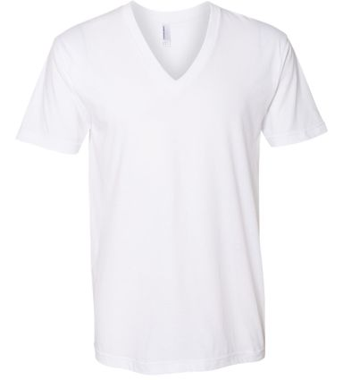 2456W Fine Jersey V-Neck T-Shirt WHITE