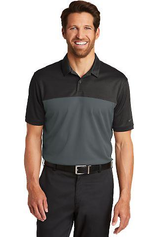 232 881655 Nike Golf Dri-FIT Colorblock Micro Piqu Black/Anthrct
