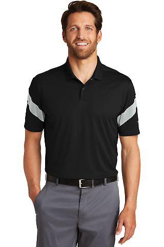 232 881657 Nike Golf Dri-FIT Commander Polo Black/Wolf Gry