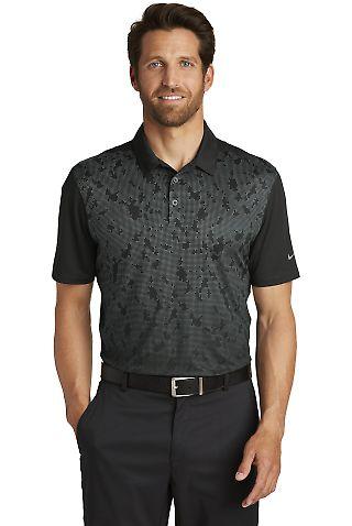232 881658 Nike Golf Dri-FIT Mobility Camo Polo Black/Dark Gry
