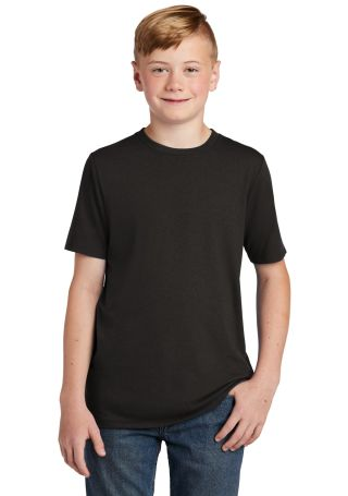 DT130Y District Made  Youth Perfect Tri  Crew Tee Black