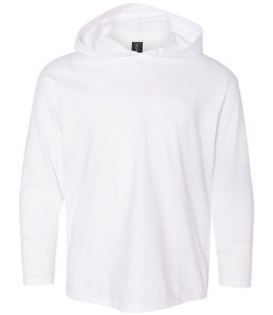 49 987B Youth Long Sleeve Hooded T-Shirt White