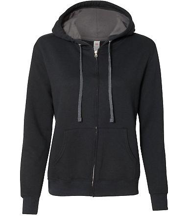 50 LSF73R Women's Sofspun® Full-Zip Hooded Sweats Black