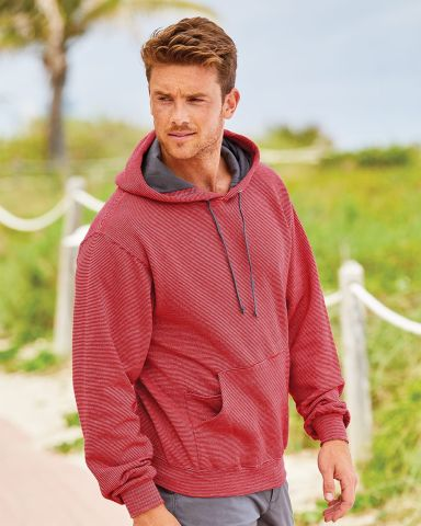 50 SF77R Sofspun® Microstripe Hooded Pullover Sweatshirt Catalog