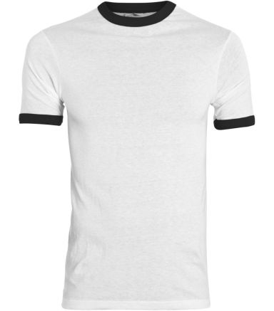 Augusta Sportswear 711 Youth Ringer T-Shirt WHITE/ BLACK