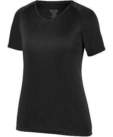 Augusta Sportswear 2793 Girls Attain Wicking Shirt BLACK