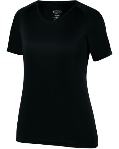 Augusta Sportswear 2792 Women's Attain Wicking Shi BLACK