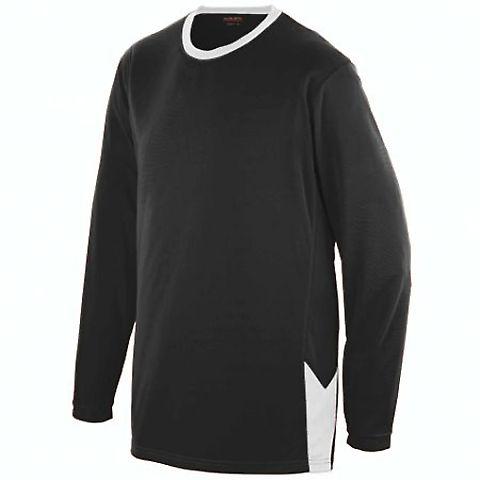 Augusta Sportswear 1717 Block Out Long Sleeve Jers BLACK/ WHITE