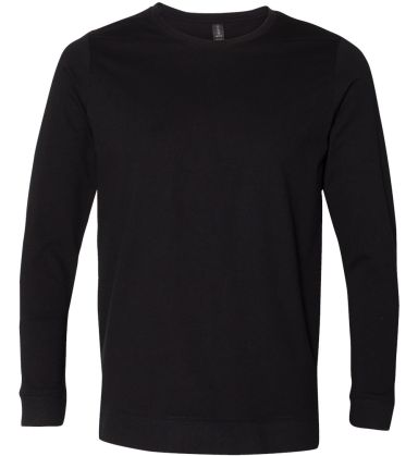 Anvil 73000 Unisex French Terry Crewneck Pullover Black
