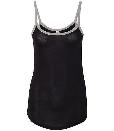 Alternative Apparel 5094 Women's Vintage 50/50 Rin Black/ Smoke Grey
