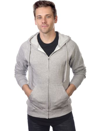 Cotton Heritage M2730 French Terry Full Zip Hoodie Athletic Heather
