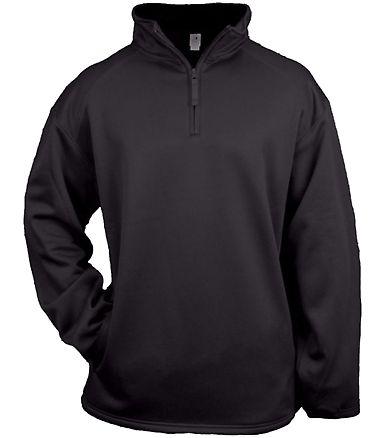 Badger Sportswear 2480 Youth Quarter Zip Poly Flee Black