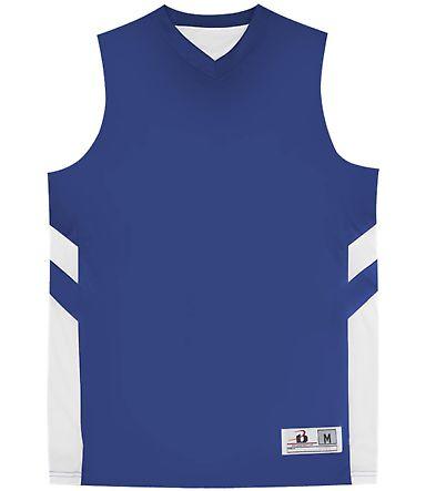 Badger Sportswear 2566 B-Pivot Rev. Youth Tank Royal/ White