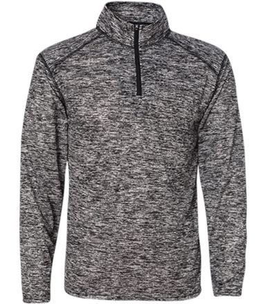 Badger Sportswear 4192 Blend Quarter-Zip Pullover Black