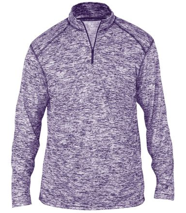 Badger Sportswear 4192 Blend Quarter-Zip Pullover Purple