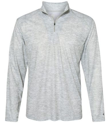 Badger Sportswear 4192 Blend Quarter-Zip Pullover Silver