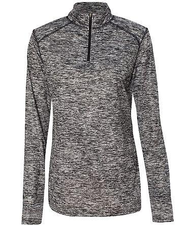 Badger Sportswear 4193 Blend Women's Quarter-Zip P Black