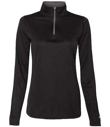 Badger Sportswear 4103 B-Core Women's Quarter-Zip Black/ Graphite