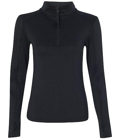 Badger Sportswear 4286 Women's Quarter-Zip Lightwe Black