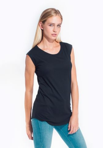 Cotton Heritage W1217 Cotton Modal Sleeveless Tank Anthracite Black