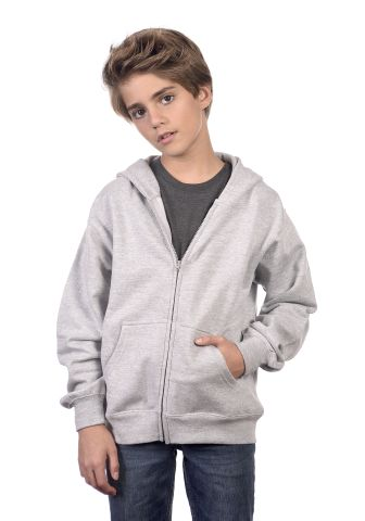 Cotton Heritage Y2560 PREMIUM FULL-ZIP YOUTH HOODI Athletic Heather