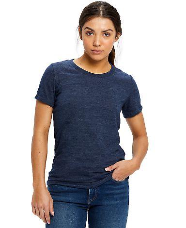0222 US Blanks Ladies Triblend T-Shirt Tri-Navy