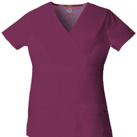 Dickies Medical 85820/Mock Wrap Top Wine