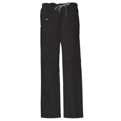 Dickies Medical 857455P/Low Rise Drawstring Pant - Black