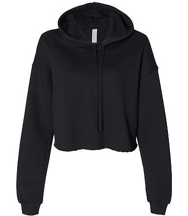Bella + Canvas 7502 Women's Cropped Fleece Hoodie BLACK