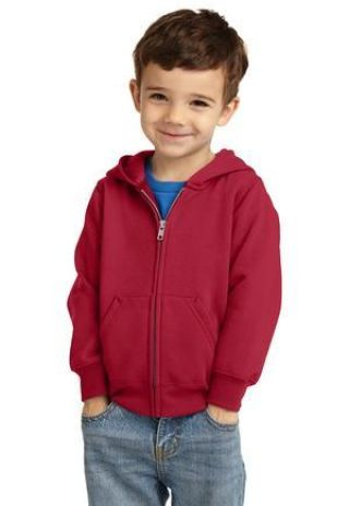 Port & Company CAR78TZH  Toddler Core Fleece Full-Zip Hooded Sweatshirt Catalog