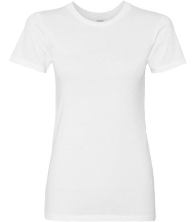 AA1072 Alternative Apparel Ladies Basic Crew  WHITE