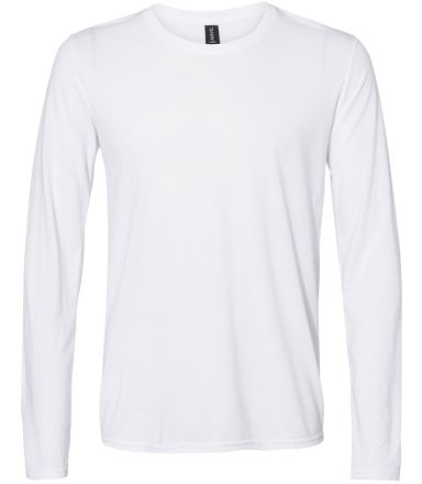 Anvil 6740 Triblend Long Sleeve T-Shirt WHITE