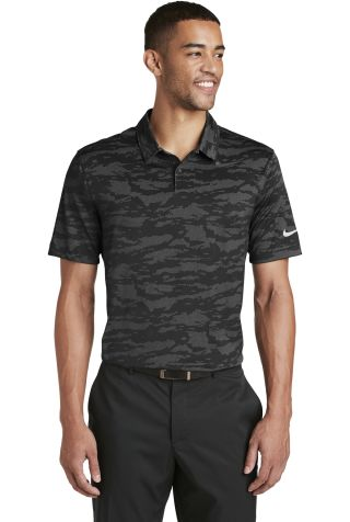 Nike AA1852  Dri-FIT Waves Jacquard Polo Black/Dk Grey