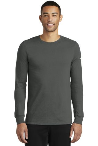 Nike BQ5230  Dri-FIT Cotton/Poly Long Sleeve Tee Anthracite