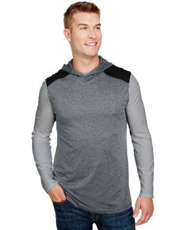 A4 Apparel N3031 Men's Tourney-Layering Sleeveless HEATHER/ BLACK