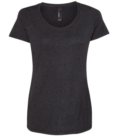 Hanes MO150 Women's Modal Triblend T-Shirt Black Heather Triblend