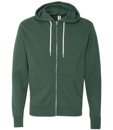 Independent Trading Co. - Unisex Full-Zip Hooded S Alpine Green