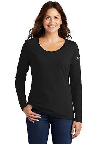 Nike BQ5235  Ladies Core Cotton Long Sleeve Scoop  Black