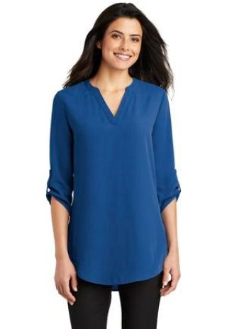 Port Authority Clothing LW701 Port Authority Ladies 3/4-Sleeve Tunic Blouse Catalog