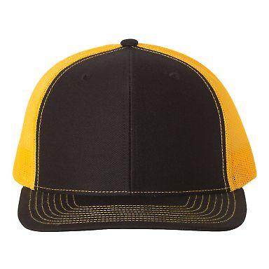 Richardson Hats 112 Snapback Trucker Cap Black/ Gold