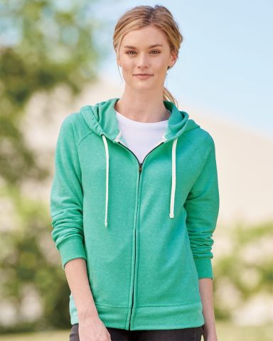 Jerzees 92WR Women's Snow Heather French Terry Full-Zip Hood Sweatshirt Catalog